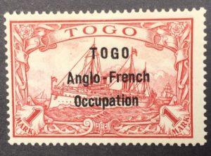 TOGO - přetisk 2mm , Mi. 1914 - 10 II.
