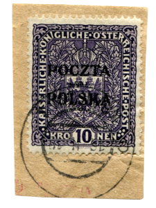 "Polsko, ""Krakovská desetikoruna"" 1918, ""tmavá"", ex. Mikulski"
