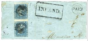 Mauritius Post Paid 1848, early, chybotisk PENOE, ex. Burrus