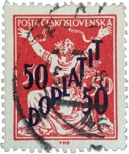 ČSR 1927chybotisk Doplatit 50 na 50 nejvýznamnější autentická rarita čs. provenience