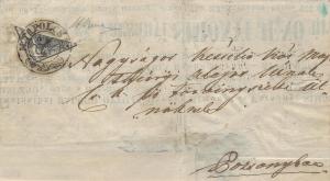 Rakousko 1850, dopis s půlenou 2kr, ze slovenského území známo 5 kusů