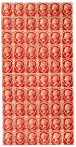 GB 1870, 60-blok 1½ P, největší známý celek této známky