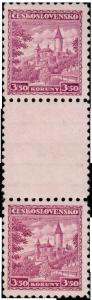"""ČSR 1932, meziarší """"Křivoklát"""", z 10 možných je známo 5 exemplářů"""