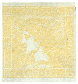 Rakousko 1851, Žlutý Merkur neupotřebený - extrémně vzácný